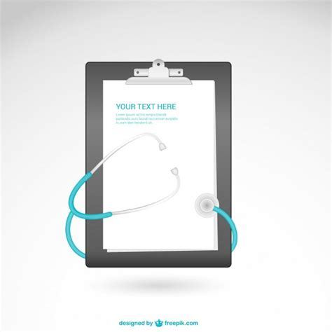 vector template with stethoscope vector free download