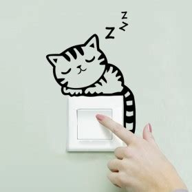 Sticker Wallpaper Dinding Hi Cat sticker wallpaper dinding sleeping cat black jakartanotebook