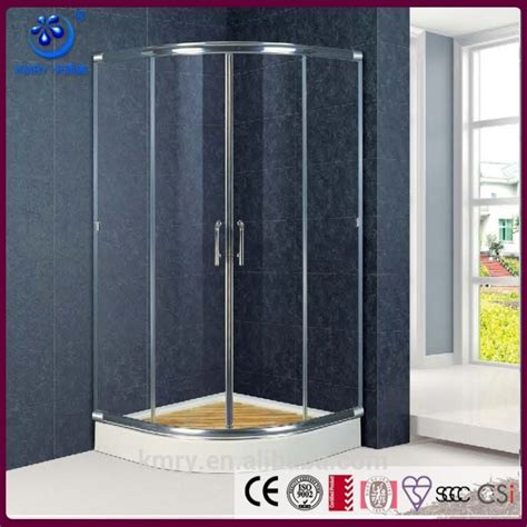 Inexpensive Shower Doors The Best Custom Semi Frameless Sliding Shower Door With Clear Glass And Cheap Tray Kt6309