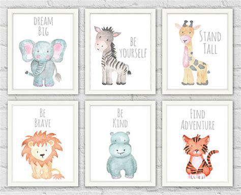 free printable animal nursery art safari animal prints safari animals baby shower gifts