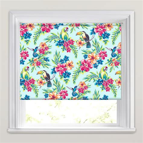 Funky Kitchen Blinds Uk Funky Tropical Flowers Parrots Toucans Patterned Roller