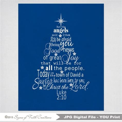define christmas tree in bible items similar to luke 2 bible verse tree subway instant printable