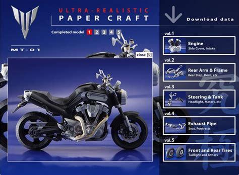 Yamaha Paper Craft - moto de papercraft de yamaha para descargar y armar