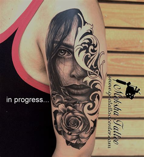 black rose tattoo studio s portrait with done by mukesh waghela at