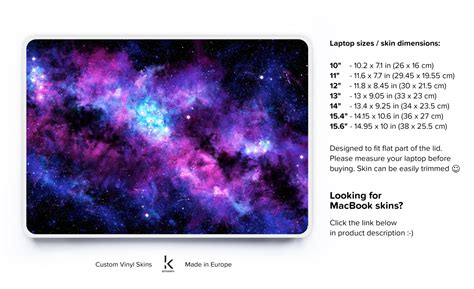 Hp Acer Galaxy laptop decal laptop skin laptop cover acer skin chromebook