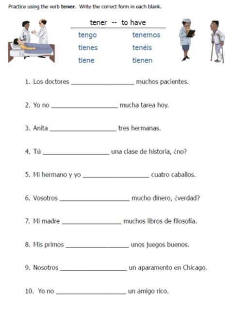 printable spanish worksheets verb conjugation to be spanish and the o jays on pinterest