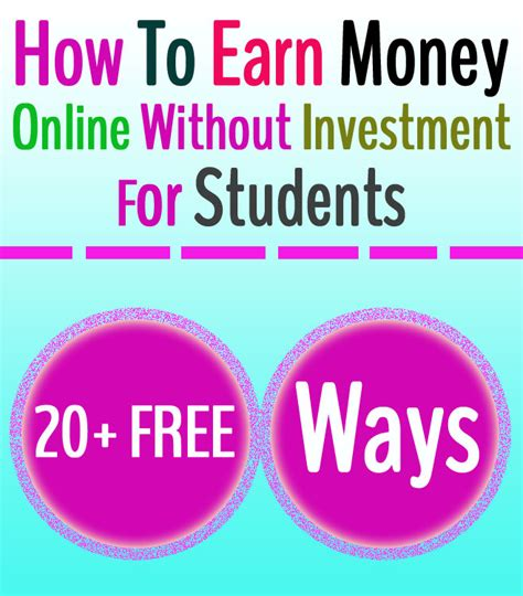 How To Make Money Online As A Student - 20 ways to earn money online without investment for students