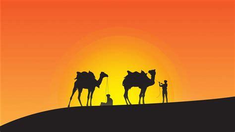 desert silhouette minimal  wallpapers hd wallpapers