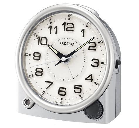 seiko silver tone bedside travel alarm clock qxe011alh