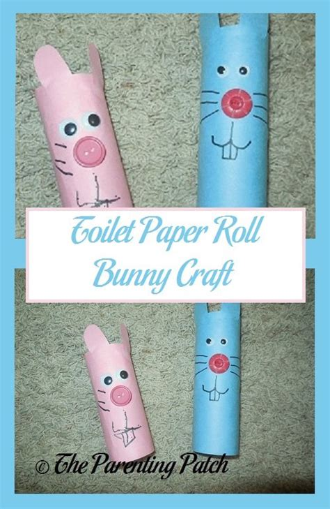 Toilet Paper Roll Bunny Craft - toilet paper roll bunny craft parenting patch