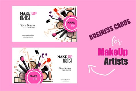 makeup artist name card template makeup business card choice image card design and card