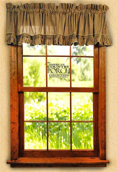 new england curtains new england black tea dyed striped ruffled window curtain
