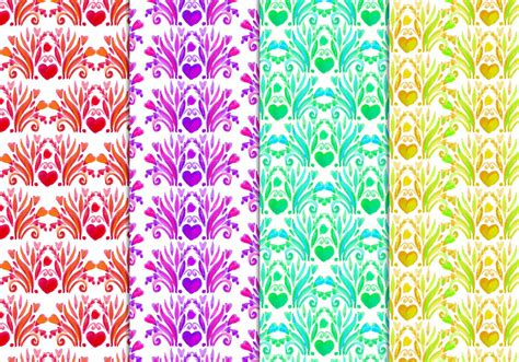 watercolor floral pattern vector free download free vector floral pattern in watercolor style download