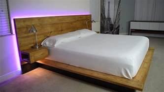 Diy Platform Bed With Desk Diy Platform Bed With Floating Nightstands