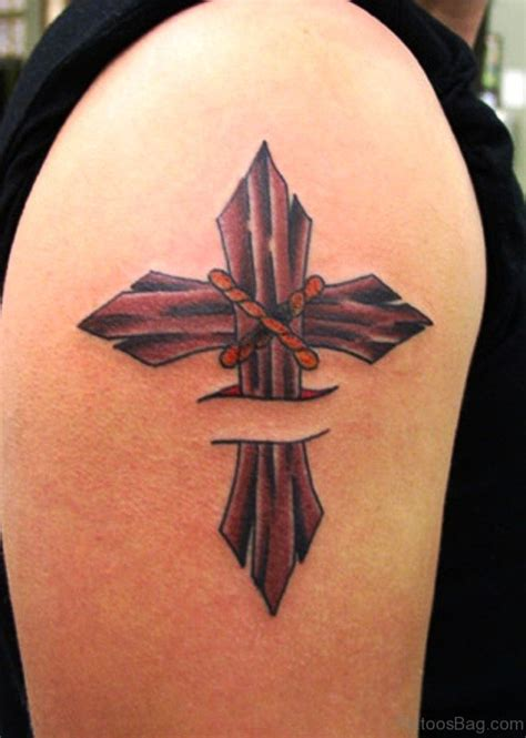 shoulder cross tattoos 53 awesome cross tattoos on shoulder