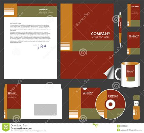 corporate identity kit stock photography image 36138492