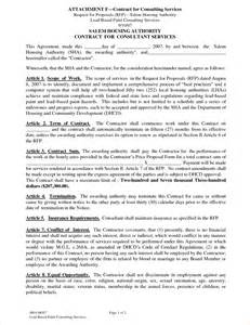 It Services Agreement Contract Template 4 Service Contract Samplereport Template Document