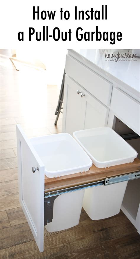 pull out garbage how to install a pull out garbage honeybear lane