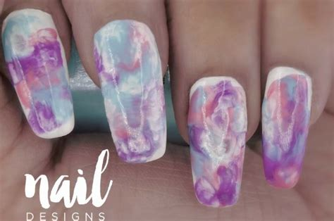 easy nail art designs marble pastel marble nail art tutorial super easy chic design
