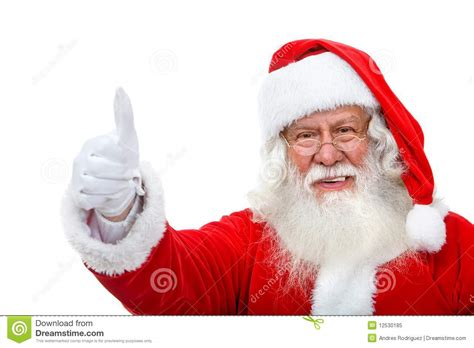 santa with thumbs up stock image image of approval