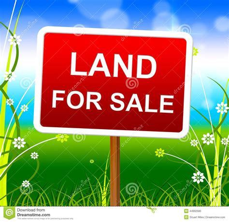 land for sale shows real estate and selling stock