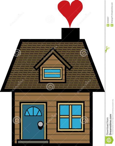 la casa fumetto casa semplice fumetto fotografia stock libera da