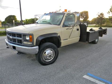 small engine maintenance and repair 1997 gmc 3500 navigation system sell used 1997 chevy gmc 3500 2500 4x4 turbo diesel 12 flatbed utility service truck in