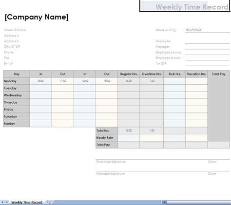 timesheet for multiple jobs free times sheet for excel