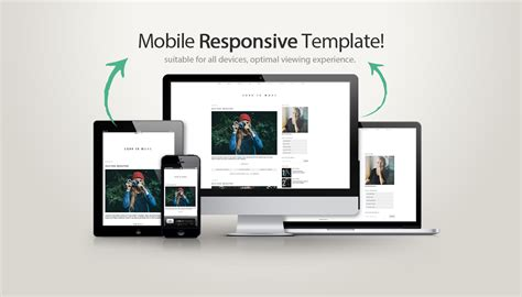 Mobile Responsive Template template less is more templates