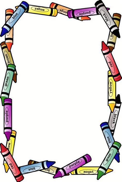 lined paper with crayon border school borders crayon border free page borders