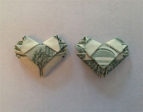Shaped Dollar Bill Origami - best 20 origami hearts ideas on