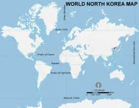 North Korea On World Map by North Korea Location Map Location Map Of North Korea