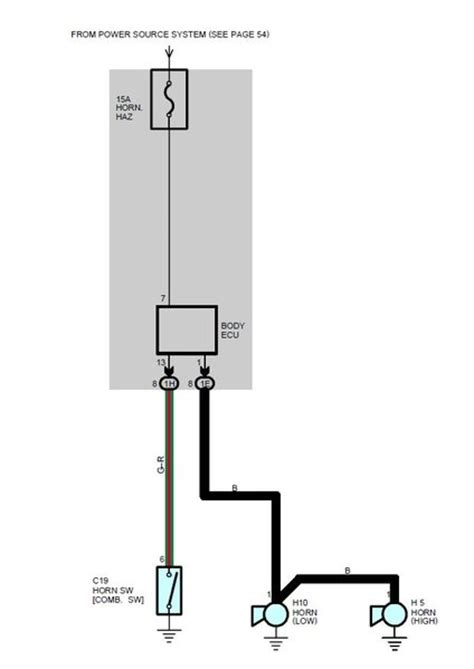 horn wiring help needed switch between two horns