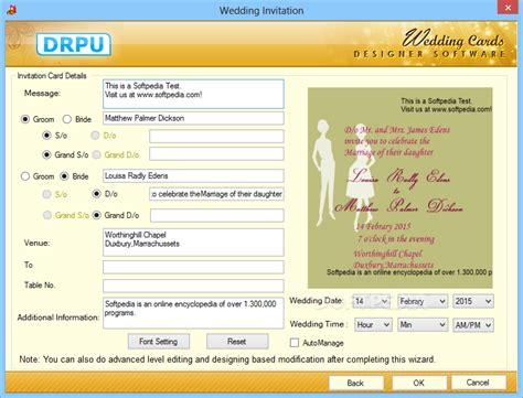 Drpu Wedding Card Designer Software by Wedding Card Design Software Free Yaseen