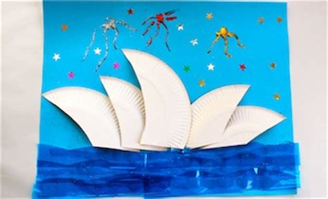 Craft Paper Australia - crafts the sydney opera house australia day
