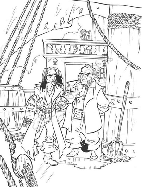 Famous Jack Sparrow Coloring Page Printable Of The Caribbean Coloring Pages