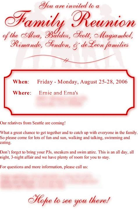 Wedding Announcement Sles For Newspaper by Family Reunion Invitation Letter Sle Family Reunion