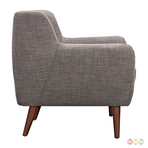 Gray Tufted Armchair Ida Modern Grey Button Tufted Upholstered Armchair With