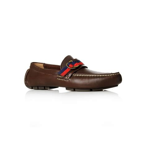 ralph loafers polo ralph terry ribbon driver loafers in brown for