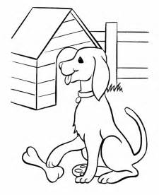 pet dog coloring pages free printable pet dog and his bone