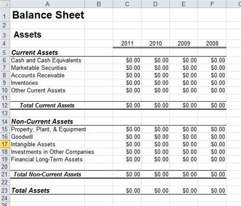 6 Free Balance Sheet Templates Excel Pdf Formats Free Simple Balance Sheet Template
