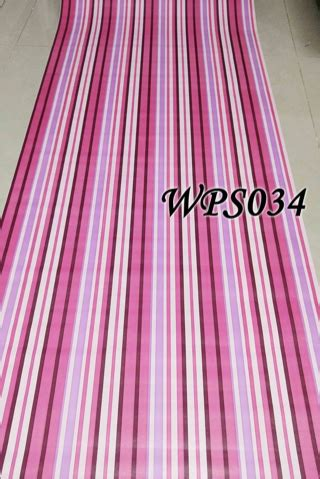 Walpaper Sticker Dinding Garis Pink Putih 1 jual wallpaper dinding stiker sticker motif garis pink 5m wallpaper tegal