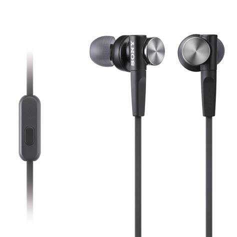 Headset Sony Bass sony mdr xb50ap bass earbud headset black mdrxb50ap b