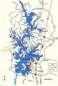 lake norman carolina map map of lake norman