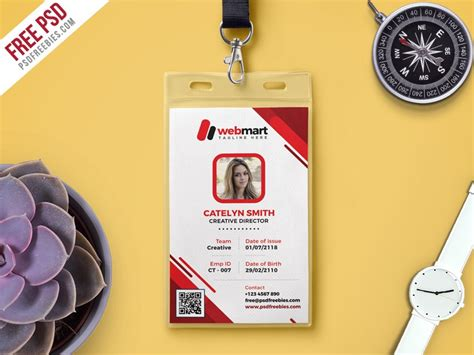 student id card template psd free photo id card template free psd psd