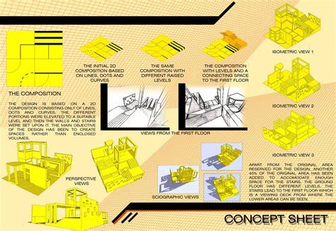 Concept Sheet Design Portfolio Architectural Design Concept Sheets