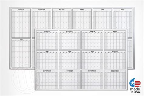 how to make a calendar on your whiteboard magnetic 12 month erase calendar