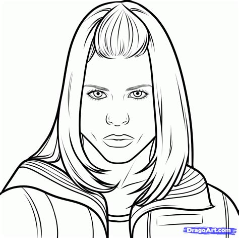 Rose Tyler Coloring Page | how to draw rose tyler from doctor who step by step