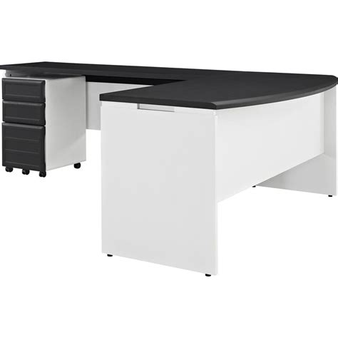 Grey L Shaped Desk Altra Furniture Altra Pursuit L Shaped Desk With Mobile File Cabinet In White And Gray 9848296