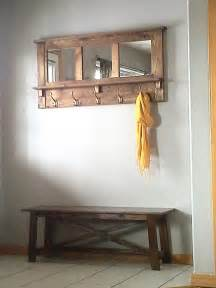 Foyer Bench And Coat Rack Diy Pallet Mirrored Coat Rack Pallet Furniture Diy